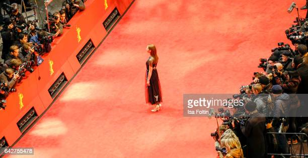 German actress Katharina Schuettler attends the closing ceremony of the 67th Berlinale International Film Festival at Berlinale Palace on February 18...