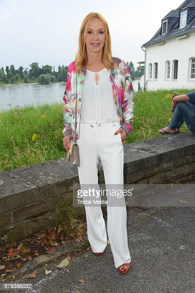 German actress Katja Flint attends the Airfield loves fashion cocktail on July 23 2016 in Duesseldorf Germany