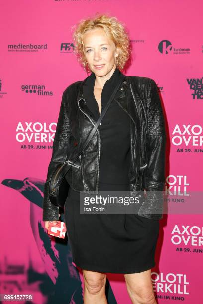 German actress Katja Riemann attends the 'Axolotl Overkill' Berlin Premiere at Volksbuehne RosaLuxemburgPlatz on June 21 2017 in Berlin Germany