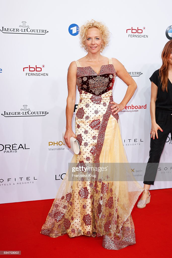 German actress <a gi-track='captionPersonalityLinkClicked' href=/galleries/search?phrase=Katja+Riemann&family=editorial&specificpeople=220836 ng-click='$event.stopPropagation()'>Katja Riemann</a> during the Lola German Film Award (Deutscher Filmpreis) 2016 on May 27, 2016 in Berlin, Germany.