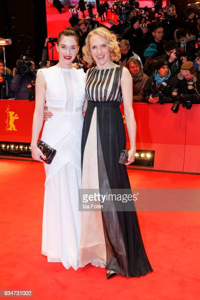 German actress Kim Riedle and german actress Juliane Koehler attend the 'Django' premiere during the 67th Berlinale International Film Festival...