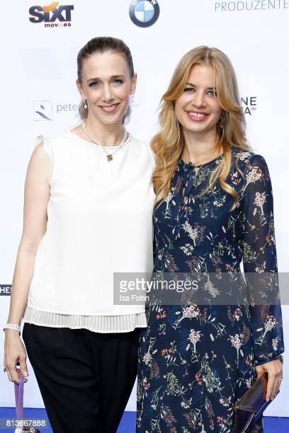 German actress Kristin Meyer and German actress Susan Sideropoulos attend the summer party 2017 of the German Producers Alliance on July 12 2017 in...