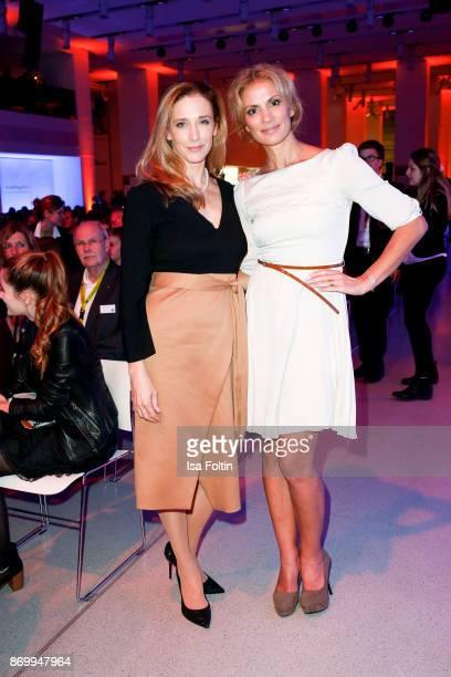 German actress Kristin Meyer and German presenter Kerstin Linnartz attend the 19th Media Award by Kindernothilfe on November 3 2017 in Berlin Germany