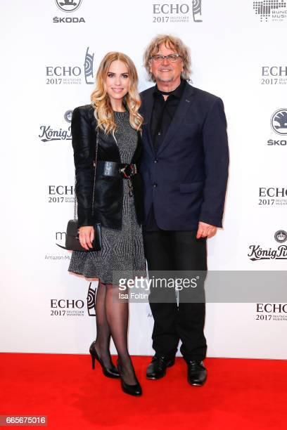 German actress LaraIsabelle Rentinck and Martin Krug during the Echo award red carpet on April 6 2017 in Berlin Germany