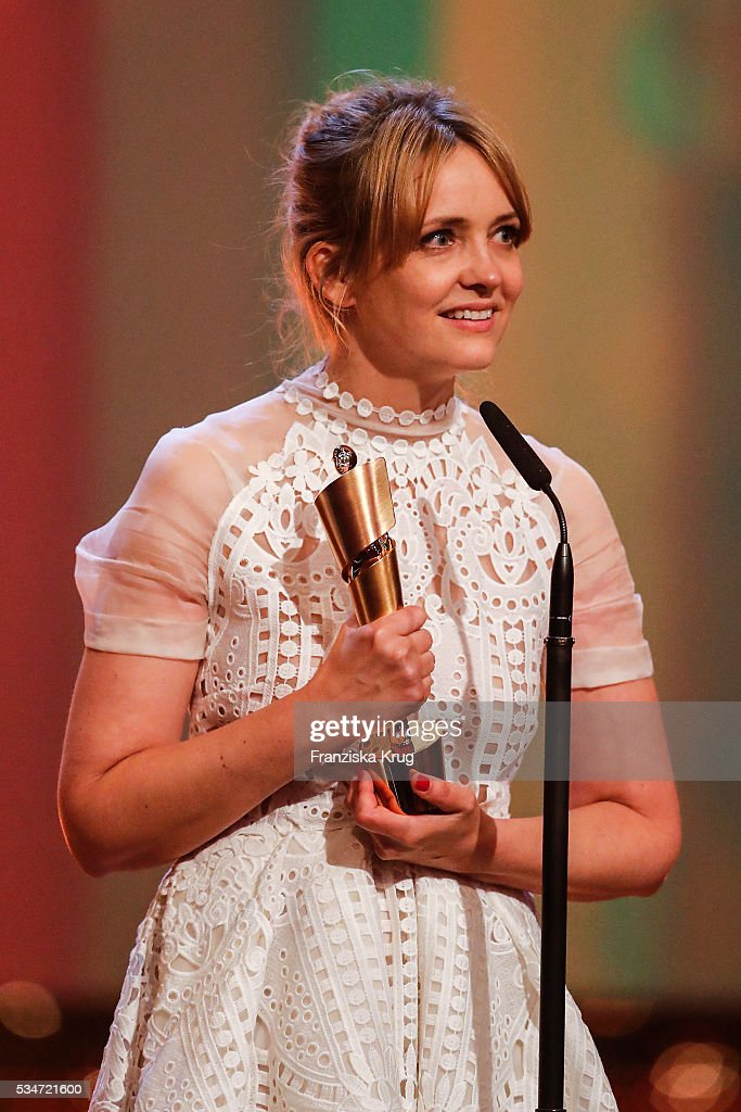 German actress Laura Tonka during the Lola - German Film Award (Deutscher Filmpreis) 2016 - Show on May 27, 2016 in Berlin, Germany.