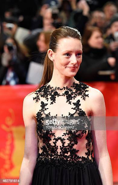 German actress Lavinia Wilson poses for photographers as she arrives for the premiere screening of the film 'Nadie quiere la noche' presented in the...