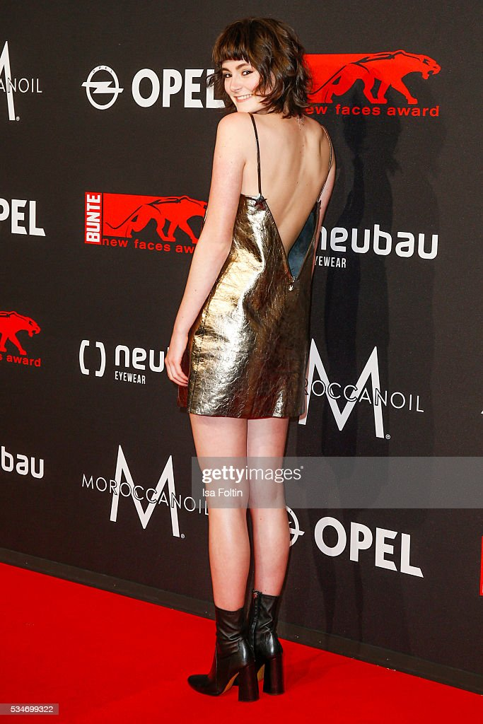 German actress <a gi-track='captionPersonalityLinkClicked' href=/galleries/search?phrase=Lea+van+Acken&family=editorial&specificpeople=12462619 ng-click='$event.stopPropagation()'>Lea van Acken</a> attends the New Faces Award Film 2016 at ewerk on May 26, 2016 in Berlin, Germany.