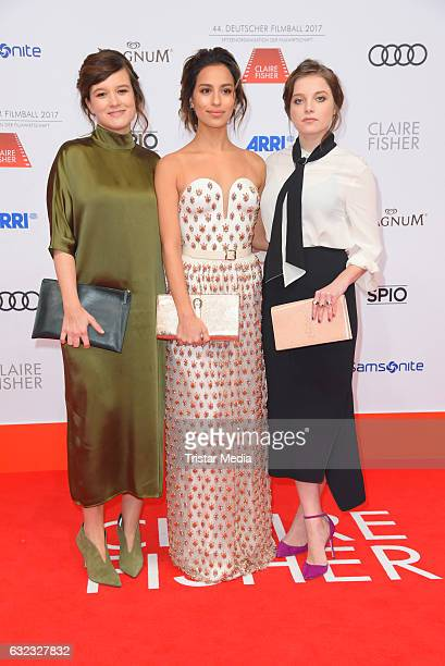 German actress Lena Schoemann german actress Gizem Emre and german actress Jella Haase attend the German Film Ball 2017 at Hotel Bayerischer Hof on...