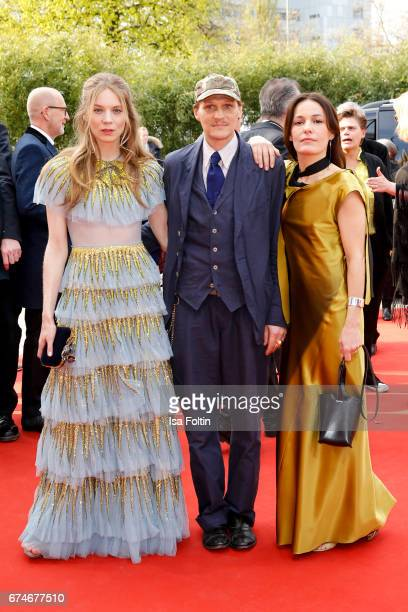 German actress Lilith Stangenberg austrian actor Georg Friedrich and german actress Nicolette Krebitz during the Lola German Film Award red carpet...
