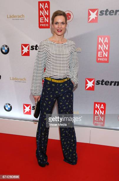 German actress Lisa Martinek during the Henri Nannen Award red carpet arrivals on April 27 2017 in Hamburg Germany
