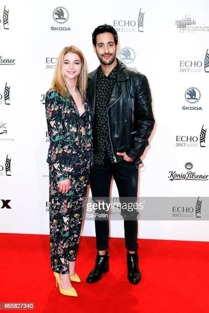 German actress LisaMarie Koroll and LifestyleBlogger and influencer Sami Slimani during the Echo award red carpet on April 6 2017 in Berlin Germany