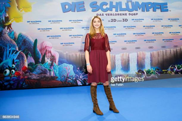 German actress LisaMarie Koroll during the 'Die Schluempfe Das verlorene Dorf' premiere at Sony Centre on April 2 2017 in Berlin Germany