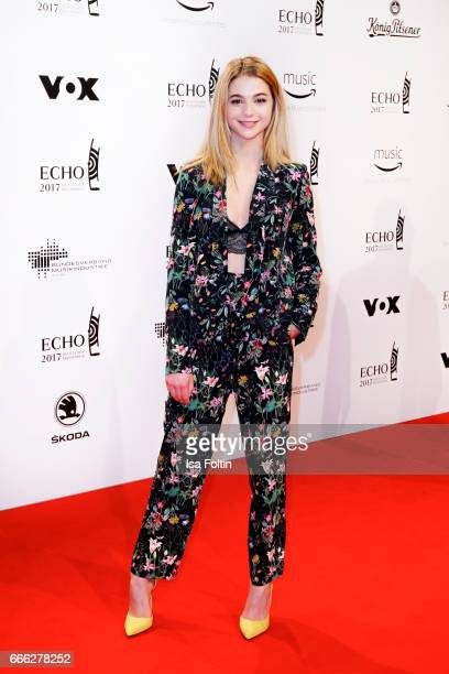 German actress LisaMarie Koroll during the Echo award red carpet on April 6 2017 in Berlin Germany