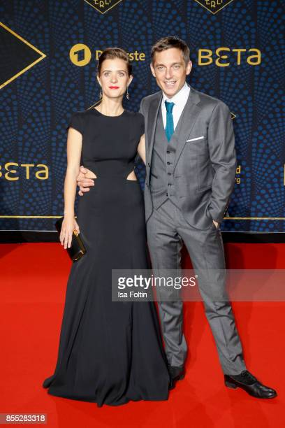 German actress Liv Lisa Fries and German actor Volker Bruch attend the 'Babylon Berlin' Premiere at Berlin Ensemble on September 28 2017 in Berlin...