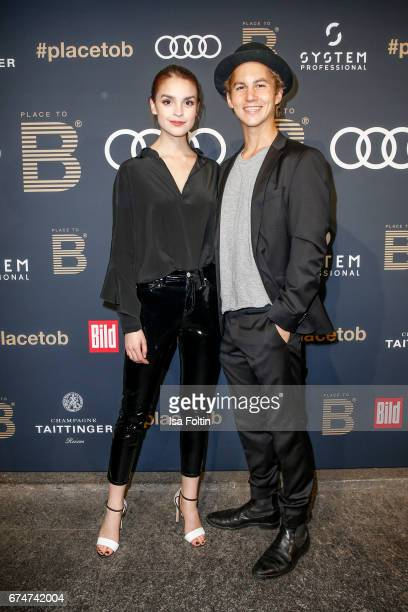 German actress Luise Befort and german actor Tim Oliver Schultz attend the Place To Be Party after the Lola German Film Award on April 28 2017 in...