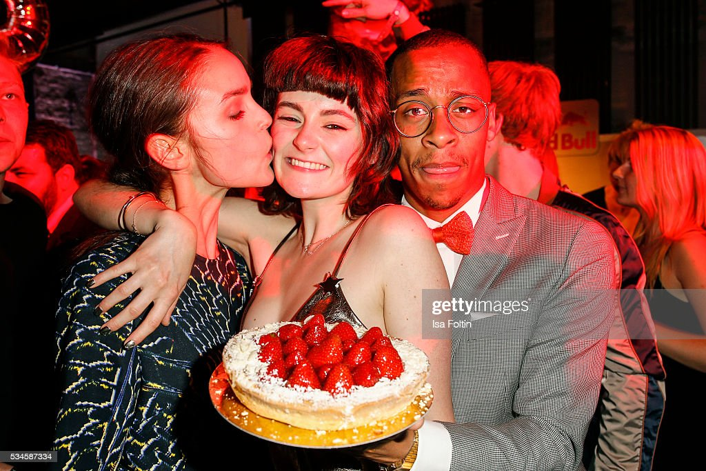 German actress Luise Befort celebrates her birthday with <a gi-track='captionPersonalityLinkClicked' href=/galleries/search?phrase=Lea+van+Acken&family=editorial&specificpeople=12462619 ng-click='$event.stopPropagation()'>Lea van Acken</a> during the New Faces Award Film 2016 After Show Party at ewerk on May 26, 2016 in Berlin, Germany.