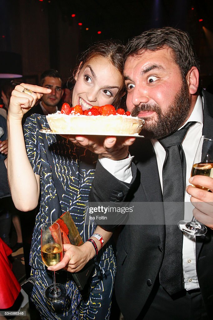 German actress Luise Befort celebrates her birthday with Sahin Eryilmaz during the New Faces Award Film 2016 After Show Party at ewerk on May 26, 2016 in Berlin, Germany.