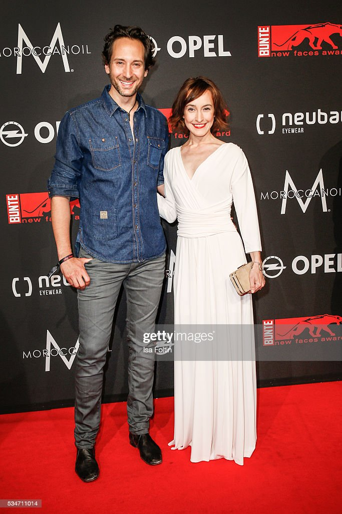 German actress <a gi-track='captionPersonalityLinkClicked' href=/galleries/search?phrase=Maike+von+Bremen&family=editorial&specificpeople=2205134 ng-click='$event.stopPropagation()'>Maike von Bremen</a> and her boyfriend Alexander Kreuzer attends the New Faces Award Film 2016 at ewerk on May 26, 2016 in Berlin, Germany.