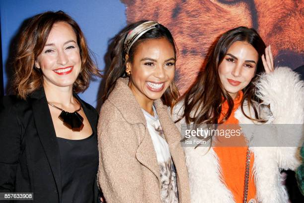 German actress Maike von Bremen German presenter Alexandra Maurer and German actress Sila Sahin attend the 'Maleika' Film Premiere at Zoo Palast on...