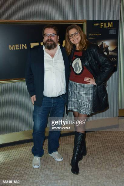 German actress Maren Gilzer and Alfred Holighaus attend the 'Mein Film' Premiere at Astor Film Lounge on March 14 2017 in Berlin Germany