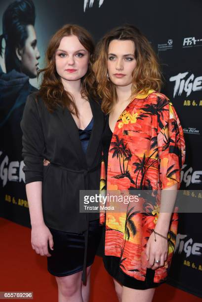 German actress Maria Dragus and german actress Ella Rumpf attend the premiere of the film 'Tiger Girl' at Zoo Palast on March 20 2017 in Berlin...