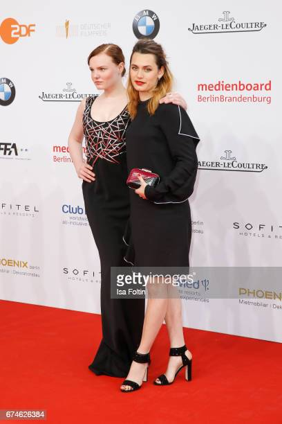German actress Maria Dragus and swissfrench actress Ella Rumpf during the Lola German Film Award red carpet arrivals at Messe Berlin on April 28 2017...