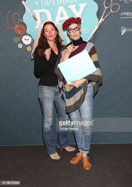 German actress Maria Fuchs and german actress Cheryl Shepard attend the Fan Made Day by Das Erste on October 9 2016 in Hamburg Germany