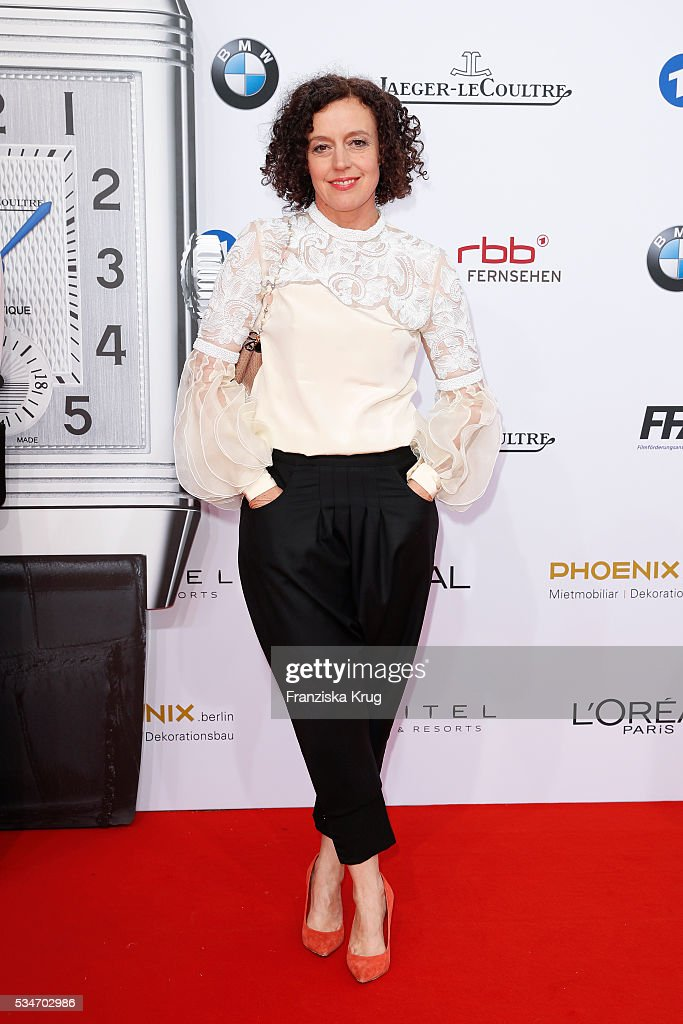 German actress <a gi-track='captionPersonalityLinkClicked' href=/galleries/search?phrase=Maria+Schrader&family=editorial&specificpeople=636749 ng-click='$event.stopPropagation()'>Maria Schrader</a> during the Lola German Film Award (Deutscher Filmpreis) 2016 on May 27, 2016 in Berlin, Germany.