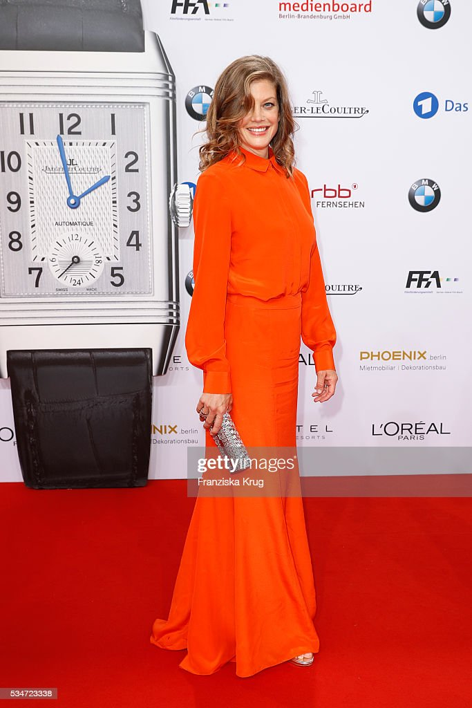 German actress <a gi-track='captionPersonalityLinkClicked' href=/galleries/search?phrase=Marie+Baeumer&family=editorial&specificpeople=816079 ng-click='$event.stopPropagation()'>Marie Baeumer</a> during the Lola German Film Award (Deutscher Filmpreis) 2016 on May 27, 2016 in Berlin, Germany.