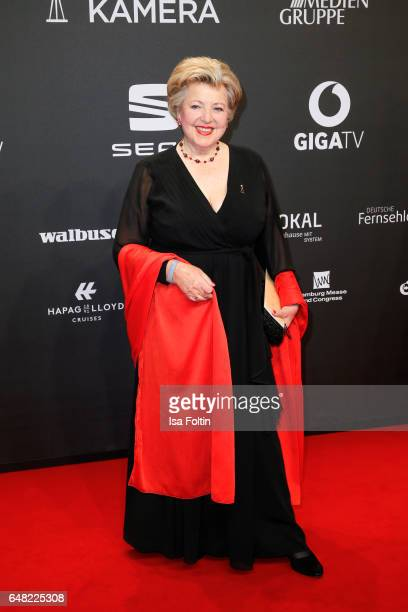German actress Marie Luise Marjan arrives for the Goldene Kamera on March 4 2017 in Hamburg Germany