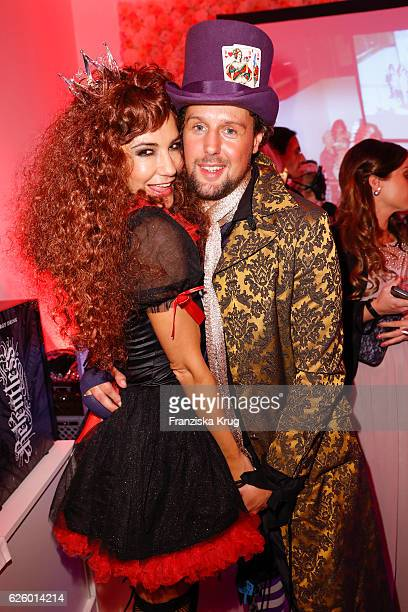 German actress Mariella Ahrens and her boyfriend Sebastian Esser attend the Hollywood Superhero Fairytale Night hosted by Jens Hilbert on November 26...
