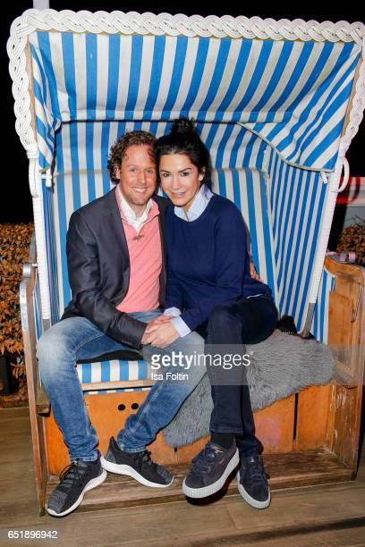 German actress Mariella Ahrens and her boyfriend Sebastian Esser attend the 'Baltic Lights' charity event on March 10 2017 in Heringsdorf Germany...