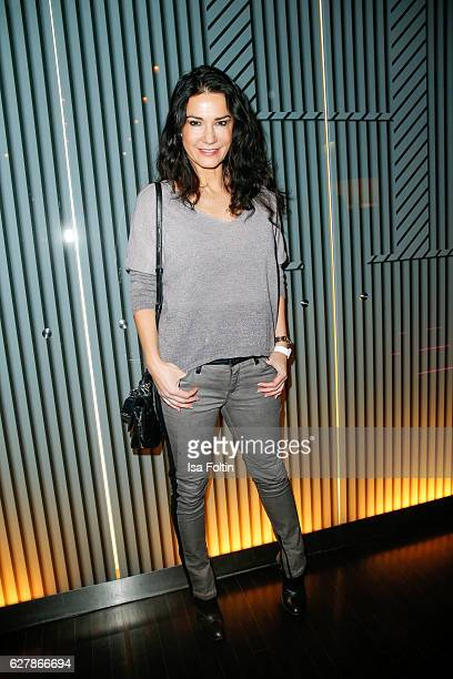 German actress Mariella Ahrens attends the 1st Anniversary Celebration Of Berlin Blonds on December 5 2016 in Berlin Germany