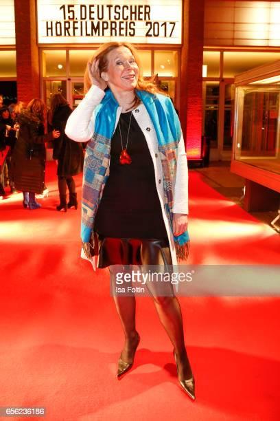 German actress Marion Kracht arrives at the Deutscher Hoerfilmpreis at Kino International on March 21 2017 in Berlin Germany