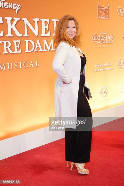 German actress Marion Kracht attends the premiere of the musical 'Der Gloeckner von Notre Dame' on April 9 2017 in Berlin Germany
