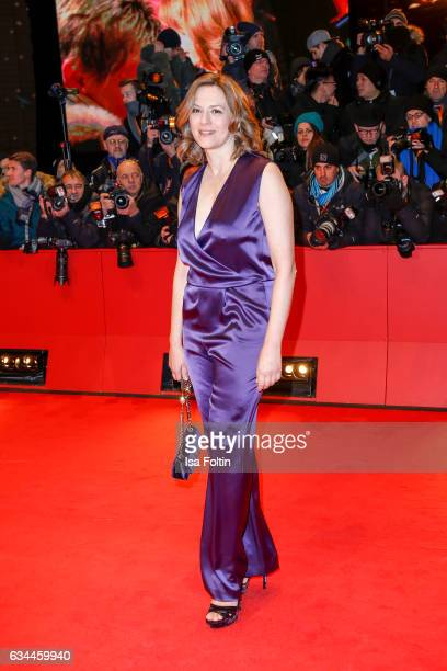 German actress Martina Gedeck attends the 'Django' premiere during the 67th Berlinale International Film Festival Berlin at Berlinale Palace on...