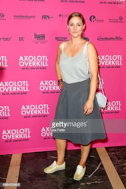 German actress Maxi Geithner attends the 'Axolotl Overkill' Berlin Premiere at Volksbuehne RosaLuxemburgPlatz on June 21 2017 in Berlin Germany