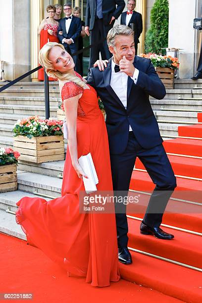 German actress Melanie Marschke and german actor Marco Girnth attend the Leipzig Opera Ball 2016 on September 10 2016 in Leipzig Germany