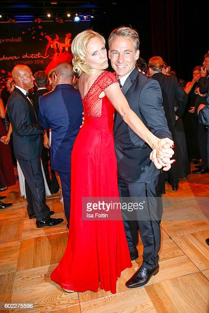 German actress Melanie Marschke and german actor Marco Girnth dance during the Leipzig Opera Ball 2016 on September 10 2016 in Leipzig Germany