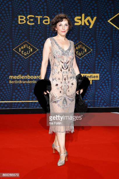 German actress Meret Becker attends the 'Babylon Berlin' Premiere at Berlin Ensemble on September 28 2017 in Berlin Germany