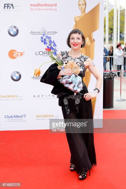 German actress Meret Becker during the Lola German Film Award red carpet arrivals at Messe Berlin on April 28 2017 in Berlin Germany