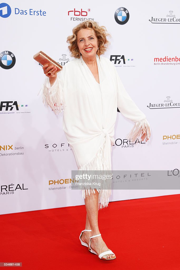 German actress Michaela May during the Lola - German Film Award (Deutscher Filmpreis) 2016 on May 27, 2016 in Berlin, Germany.
