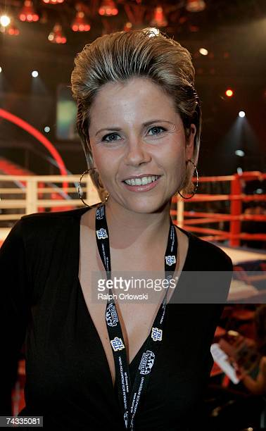 German actress Michaela Schaffrath attends the livebroadcat of 'ProSieben Fight Night' May 25 2007 in Cologne Germany