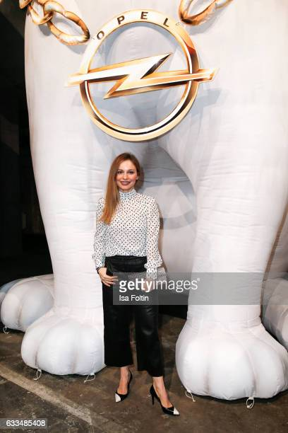 German actress Mina Tander attends the Presentation of the new Opel Calender 2017 at Kraftwerk Mitte on February 1 2017 in Berlin Germany