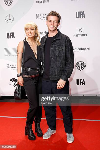 German actress model and moderator Caro Cult and german actor Jannis Niewoehner attend the First Steps Awards 2016 at Stage Theater on September 19...