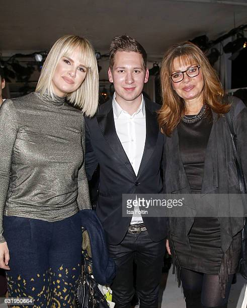 German actress Monica Ivancan Clemens Trischler and german actress Maren Gilzer seen at the Lena Hoschek show during the MercedesBenz Fashion Week...