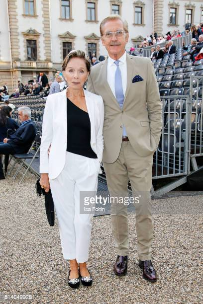 German actress Monika Peitsch and her husband Sven HansenHochstadt attend the Thurn Taxis Castle Festival 2017 'Aida' Opera Premiere on July 14 2017...