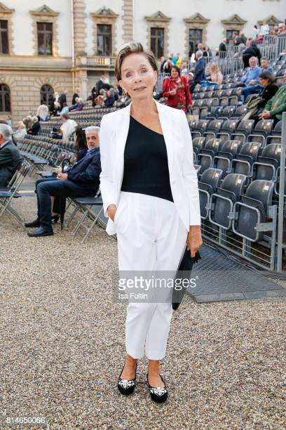 German actress Monika Peitsch attends the Thurn Taxis Castle Festival 2017 'Aida' Opera Premiere on July 14 2017 in Regensburg Germany