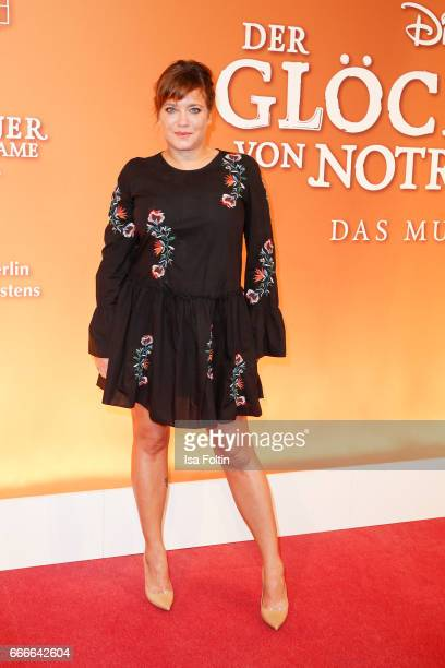 German actress Muriel Baumeister attends the premiere of the musical 'Der Gloeckner von Notre Dame' on April 9 2017 in Berlin Germany