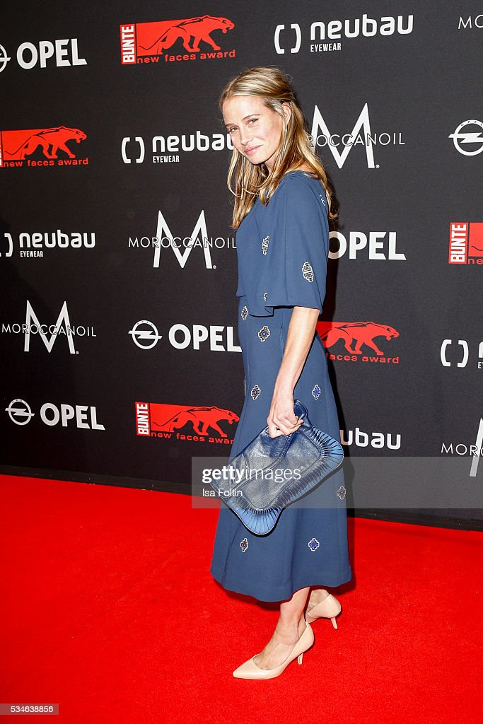 German actress <a gi-track='captionPersonalityLinkClicked' href=/galleries/search?phrase=Nadeshda+Brennicke&family=editorial&specificpeople=233709 ng-click='$event.stopPropagation()'>Nadeshda Brennicke</a> attends the New Faces Award Film 2016 at ewerk on May 26, 2016 in Berlin, Germany.